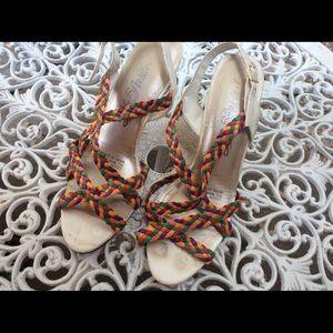 💥SUMMER Close Out. Vintage Strappy Sandal Heels 9